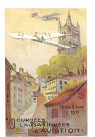 SUISSE AVIATION  MEETING LAUSANNE JUIN 1911 CARTE OFFICIELLE N°2 / FREE SHIP. R - VD Vaud