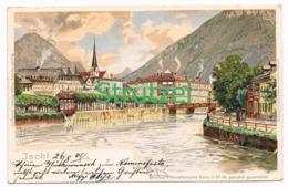 508 Otto Strützel Ischl Stadtbild Künstlerkarte - Other Illustrators