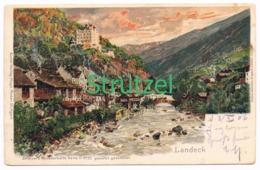 509 Otto Strützel Landeck Gebirge Künstlerkarte - Other Illustrators