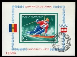 Rumänien 1976 - Mi-Nr. Block 129 Gest / Used - Olympia Innsbruck - 1948-.... Republiken