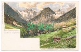 510 Otto Strützel Scesaplana Panorama Künstlerkarte - Other Illustrators