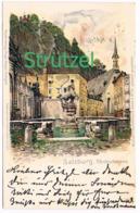 511 Otto Strützel Salzburg Pferdeschwemme Künstlerkarte - Other Illustrators