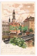 512 A Otto Strützel Innsbruck Stadtbild Künstlerkarte - Other Illustrators