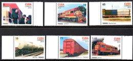 CUBA 4825/30 Trains, Fidel Castro - Eisenbahnen