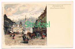 513 Otto Strützel Innsbruck Theresienstrasse Künstlerkarte - Other Illustrators
