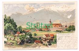 514 Otto Strützel Innsbruck Kloster Wilten Künstlerkarte - Other Illustrators