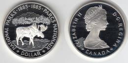 CANADA 1985 Un Dollar One Dollar Orignal Centenaire Parcs Nationaux - Canada