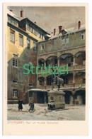 516 Otto Strützel Stuttgart Altes Schloss Künstlerkarte - Other Illustrators