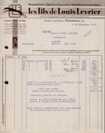 FACTURE LES FILS DE LOUIS LEVRIER - MANUFACTURE - OYONNAX - AIN - AUCOURT - SAULIEU - 10 SEPTEMBRE 1947 - 1900 – 1949