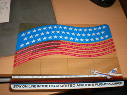 Stay On Line In The U S United Airlines Flight Planner - Advertisements