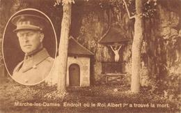 Marche-les-Dames. Endroit Où Le Roi Albert 1er A Trouvé La Mort - Koninklijke Families