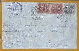 TAP. Inauguração Da Linha De África Com Quadrimotor. Lisboa / Luanda 1954. Aviação. Flâmula De Angola. Erro 1953 - Covers & Documents