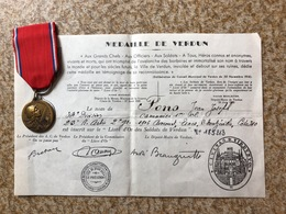 Médaille De Verdun 23 Eme D'artillerie - 1914-18