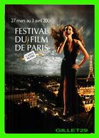 AFFICHES DE CINÉMA - FESTIVAL DU FILM DE PARIS, CARTE NOIRE, 2001 - LA TOUR EIFFEL - - Affiches Sur Carte