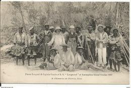 "SEYCHELLES....Pierre Coupard Et Captain Currie Of S.S."" Longwood "" At Assomption - Island..October 1907......très Belle. - Seychelles"