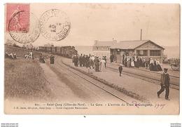 CPA 22  SAINT QUAY LA GARE ARRIVEE DU TRAIN DE GUINGAMP TRES  RARE BELLE CARTE !! - Saint-Quay-Portrieux