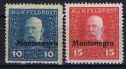 Feldpost Montenegro  Mi I + II Nicht Ausgegeben MH/* Flz/ Charniere - 1850-1918 Keizerrijk