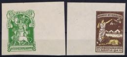 Netherlands 1916 Internering NVPH IN1 + IN 2 Forgeries Space Fillers - 1891-1948 (Wilhelmine)
