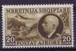 Albania Albanien Mi 312 Airmail  MH/* Flz/ Charniere - Albania