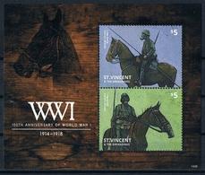 Bloc Sheet 1ere Guerre Mondiale World War 1  MNH  Neuf ** St Vincent & The Grenadines 2014 - Guerre Mondiale (Première)