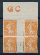 CR-108: FRANCE: Lot Avec N°141** Mill 7 Manchette GC (signé, * Hors Timbres) - Millesimes