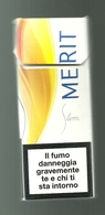Tabacco Pacchetto Di Sigarette Italia - Merit Slim Da 10 Pezzi - Tobacco-Tabac-Tabak-Tabaco - Porta Sigarette (vuoti)