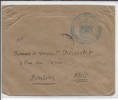 """1919 - ARMEE HALLER - ENVELOPPE Du SP 309 """"GQG De L'ARMEE POLONAISE ET ESCADRILLE 59"""" RARE => MOULINS - Marcophilie (Lettres)"""
