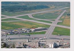 Vintage Rppc Swissair Caravelle & Douglas Dc-8  @ Zurich Kloten Airport - 1919-1938: Between Wars