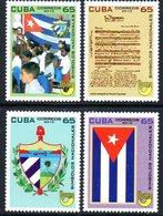 CUBA 4898/901 UPAEP, Armoiries, Hymne, Drapeau, Musique - Emissions Communes