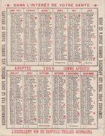 CALENDRIER 1916 : AVEC PUB APERITIF QUINQUINA . - Calendars
