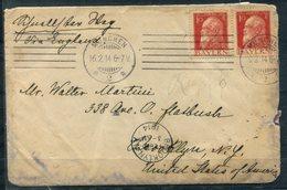 4599 - BAYERN - 2mal 10 Pfg. Luitpold Auf Brief Von MÜNCHEN Nach BROOLYN, USA - LESEN - Bavière