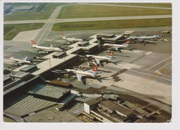 Vintage Rppc Swissair Boeing 747 & Douglas Dc-10 @ Zurich Kloten Airport - 1919-1938: Between Wars
