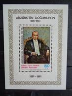 1981 BLOC N° 2 ** - CENTENAIRE DE LA NAISSANCE D'ATATURK - Chypre (Turquie)