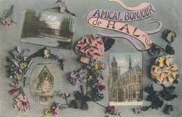 CPA - Belgique - Halle - Hal - Amical Bonjour De Hal - Halle