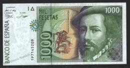 Banknote Spain -  1000 Pesetas – October 1992 – Hernan Cortes - Letter 1P - Condition UNC - Pick 163 - [ 4] 1975-… : Juan Carlos I