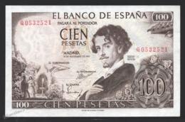 Banknote Spain -  100 Pesetas – November 1965 – Gustavo Adolfo Bequer, Writer – Serie Q -  Condition VF - Pick 150a - [ 3] 1936-1975 : Regime Di Franco