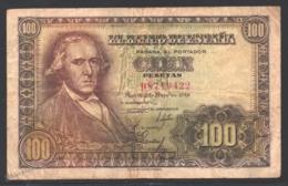 Banknote Spain -  100 Pesetas – May 1948 – Francisco Bayeu – Serie D – Condition G - Pick 137a - [ 3] 1936-1975 : Regime Di Franco
