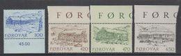 Faroe Islands 1987 Old Farmhouses 4v ** Mnh (42576) - Faeroër