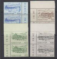 Faroe Islands 1987 Old Farmhouses 4v (pair) ** Mnh (42576A) - Faeroër