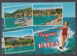 Water Skiing , Old  Postcard - Wasserski