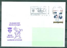 MARCOPHILIE - P.H.JEANNE D'ARC AUMÔNERIE CATHOLIQUE Dernière Campagne 2009/2010 Flamme Du 4 - 1 - 10 - Poste Navale