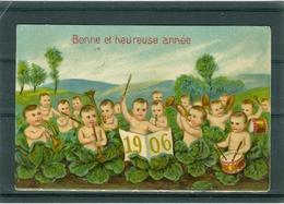 Relief - Gaufrée - Embossed - Prage - Année 1906 - BE - Bébés