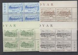 Faroe Islands 1987 Old Farmhouses 4v Bl Of 4 ** Mnh (42576C) - Faeroër