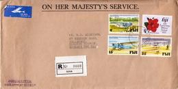 Postal History: Fiji R Cover - Fiji (1970-...)