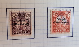 SANDJAK ALEXANDRETTE Yvert N° 1 Et 2 Oblitéré, Used - 1934-39 Sandjak Alexandrette & Hatay