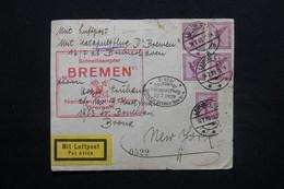 ALLEMAGNE - Enveloppe Par Catapulte Du Bremen En 1929 Pour New York - L 28090 - Briefe U. Dokumente