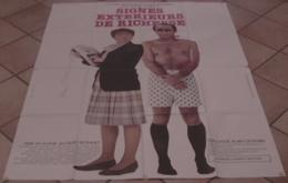 AFFICHE CINEMA ORIGINALE FILM SIGNES EXTERIEURS DE RICHESSE MARIELLE BRASSEUR BALASKO HALLYDAY 1983 - Affiches & Posters
