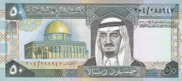 SAUDI ARABIA 50 RIYAL 1983 P-24b SIG/5  KING FAHD UNC  */* - Saudi Arabia