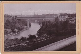 Bern, Bahnbrücke, Alte Photo Auf Karton - Lieux