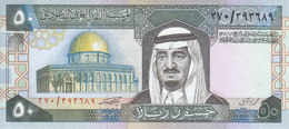 SAUDI ARABIA 50 RIYAL 1983 P-24b SIG/5  KING FAHD AU/UNC  */* - Saudi Arabia